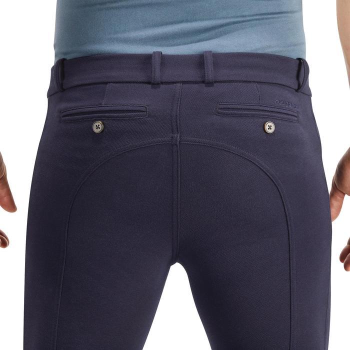Pantalón equitación hombre BR340 badanas adherentes Gris azulado ... a6a8d211a291
