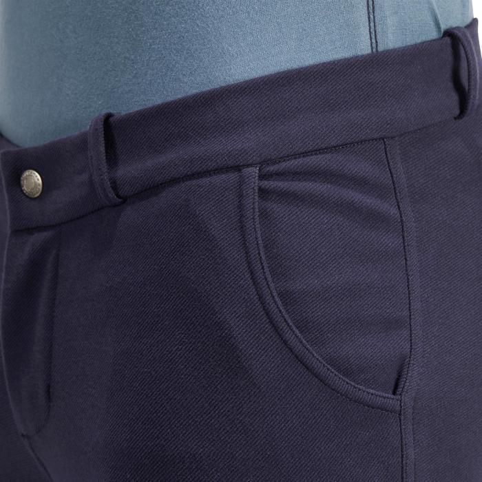 Pantalon équitation homme 140 basanes agrippantes marine