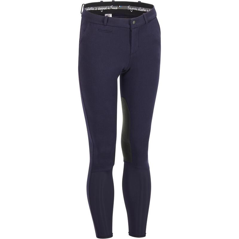 Pánské jezdecké kalhoty 140 s protiskluzovými rajtfleky modré