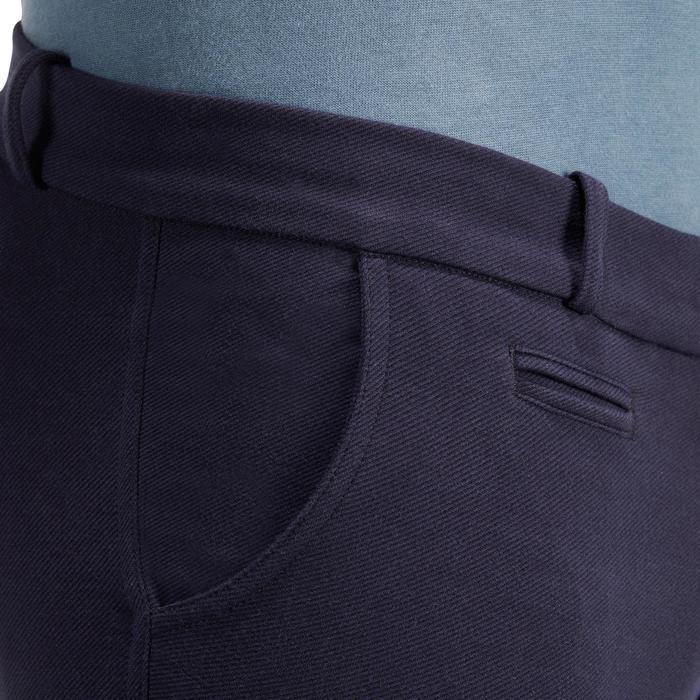 Pantalón equitación hombre BR340 badanas adherentes azul marino