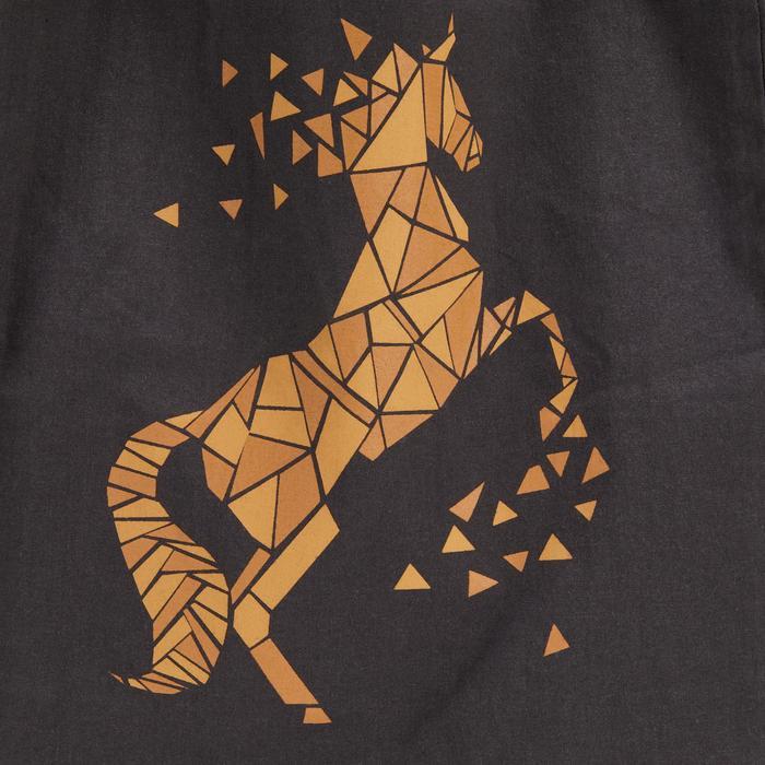 Sac de pansage équitation en coton gris