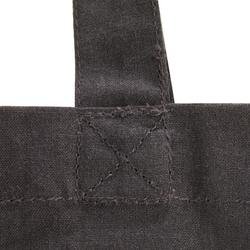 Sac de pansage en coton équitation gris