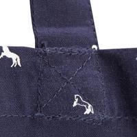 Sac de pansage en coton équitation marine