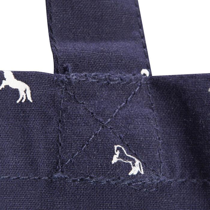 Sac de pansage équitation en coton marine