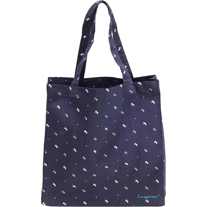 Fouganza medvilninis krepšys žirgų priežiūros reikmenims susidėti – mėlynas