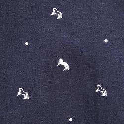 Verzorgingstas in katoen paardrijden marineblauw