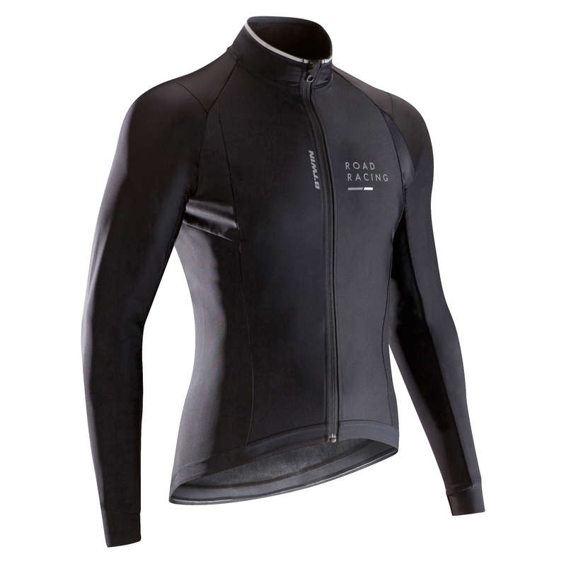 MID SEASON ROAD RACING APPAREL Cycling - RR 900 Light Winter Road Cycling Jacket - Black BTWIN - Cycling