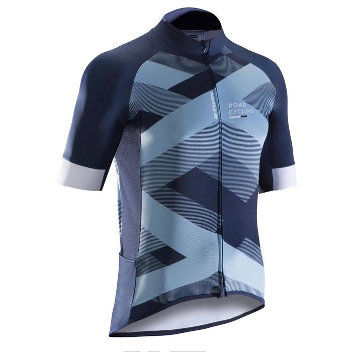 MAILLOT VELO ROUTE MANCHES COURTES HOMME ROADCYCLING 900  XRED NAVY - 1290502