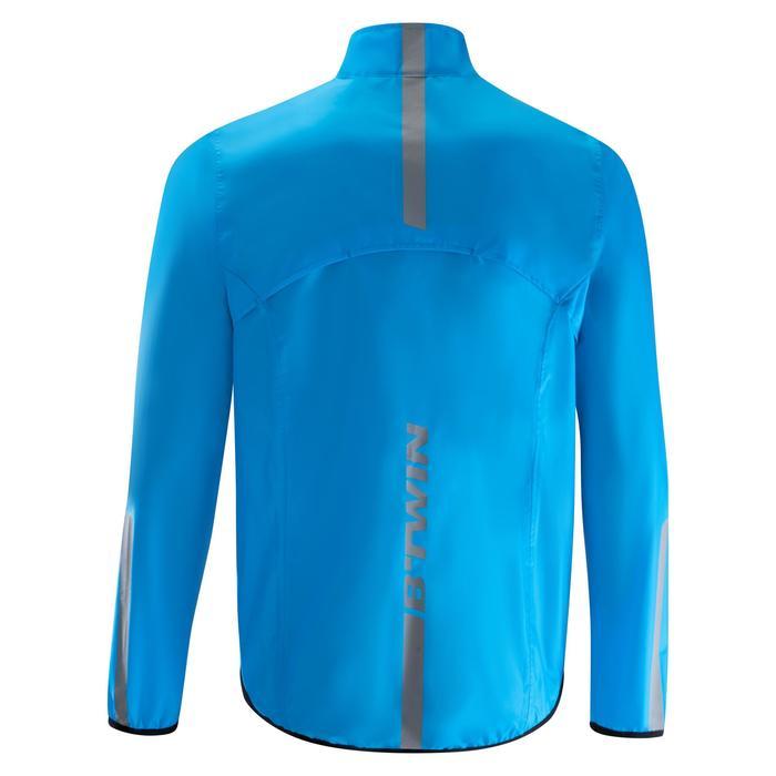 Fahrrad-Regenjacke Rennrad 100 Herren blau