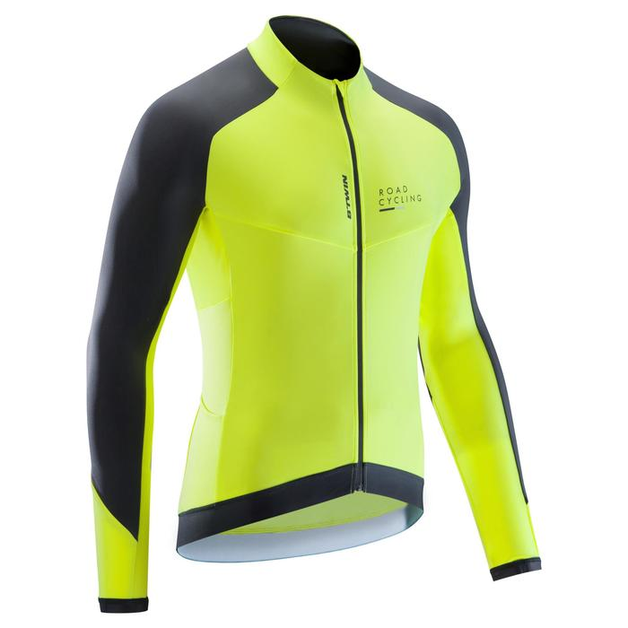 MAILLOT VELO ROUTE MANCHES LONGUES HOMME CYCLOTOURISTE 9000 - 1290514