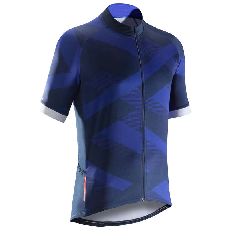 MEN WARM WEATHER ROAD CYCLING APPAREL - Road C 500 Short Sleeve Cycling Jersey - X Blue B'TWIN
