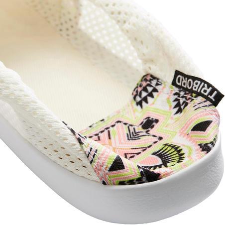Calzado de Playa Surf mujer AREETA de Tela Longi Blanco