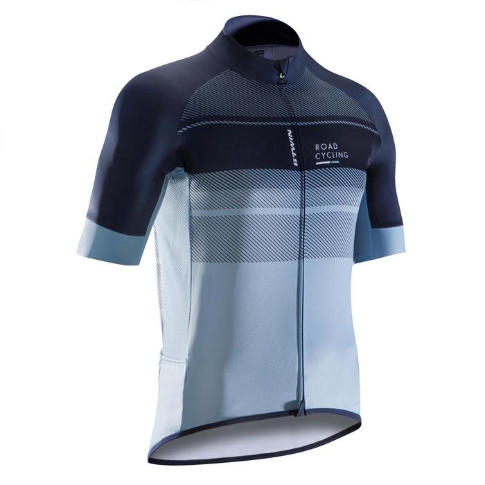 MAILLOT VELO ROUTE MANCHES COURTES HOMME ROADCYCLING 900  XRED NAVY - 1290526