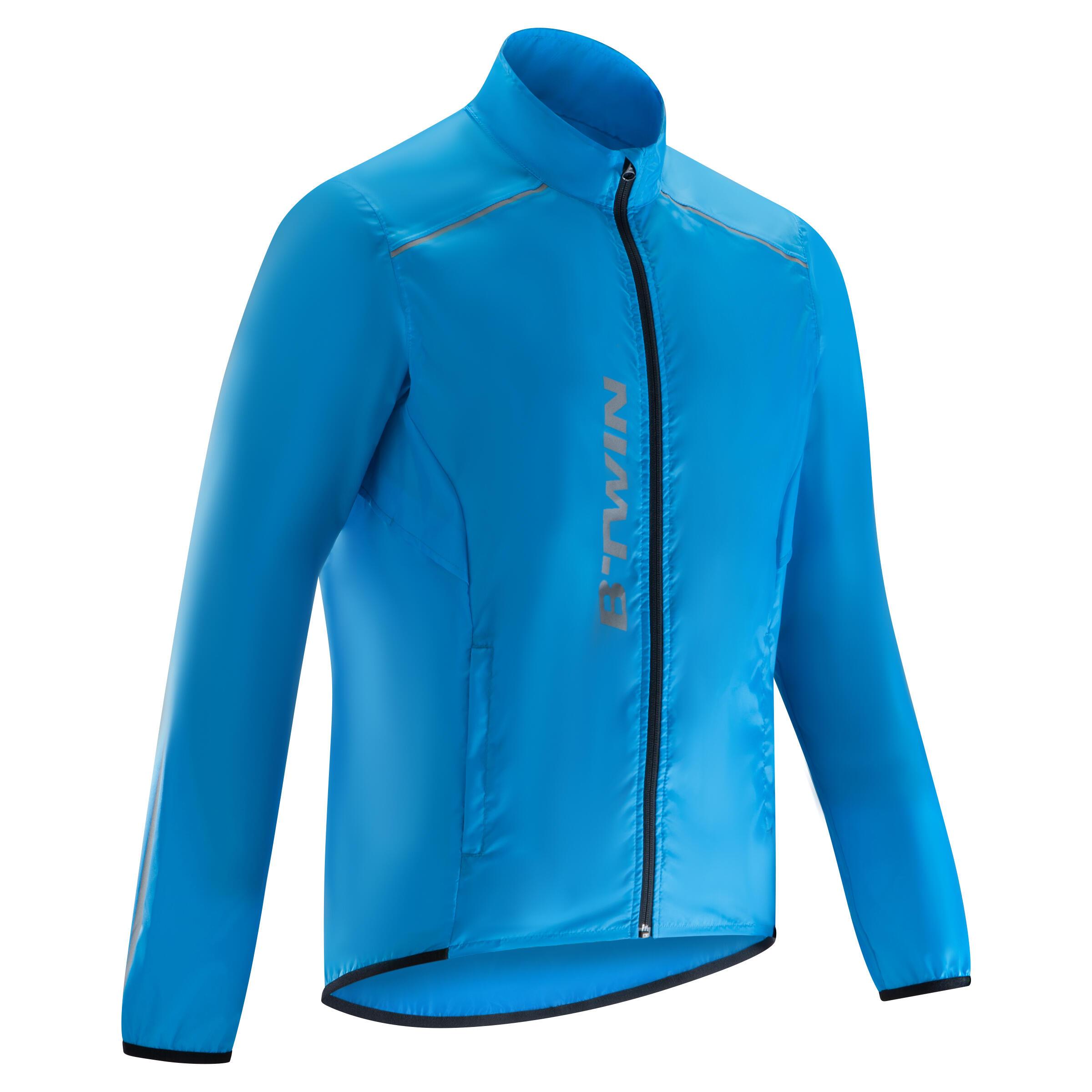 100 Cycling Showerproof Jacket - Blue