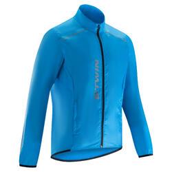Fietsregenjasje voor heren 100 wielertoerisme blauw