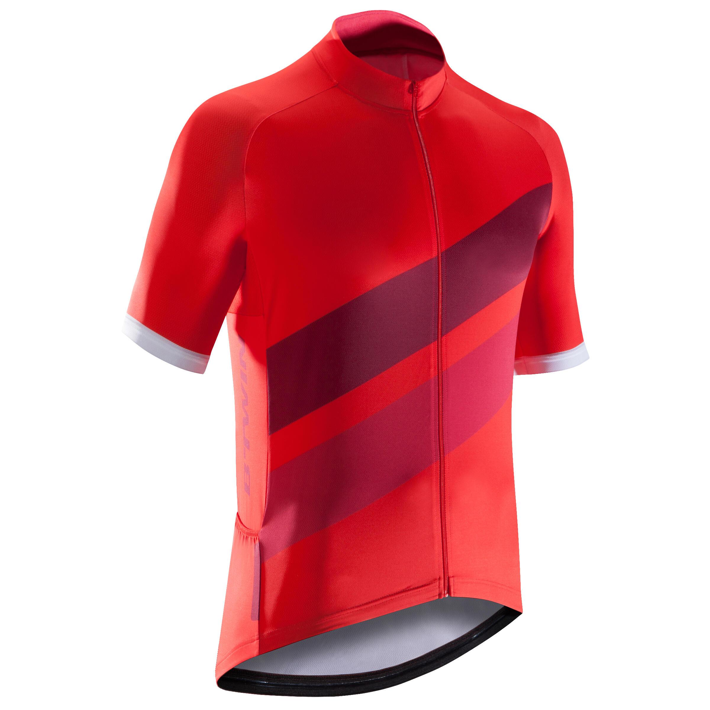 Triban Fietsshirt met korte mouwen voor heren Roadcycling 500 rood