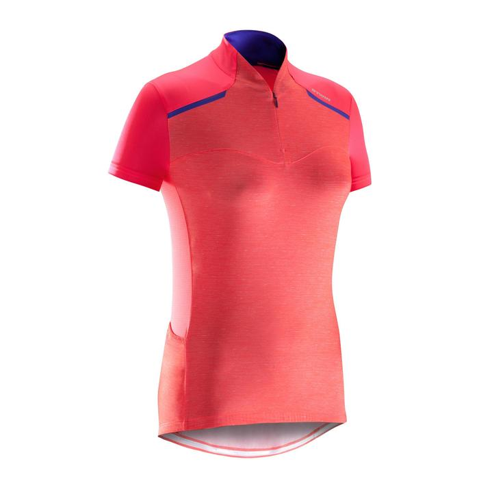 MAILLOT VELO MANCHES COURTE FEMME 500 - 1290537