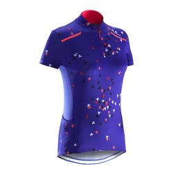 MAILLOT VELO MANCHES COURTE FEMME 500