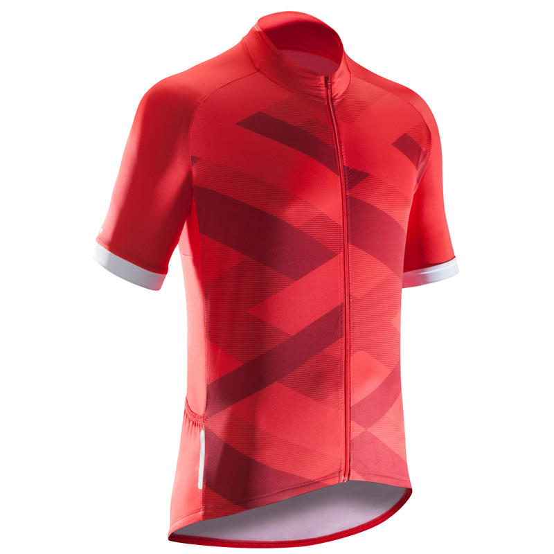 1c6f91f9eb4 Men>Men's Tops>Men's T-shirts>500 X Short-Sleeved Road Cycling Jersey - Red
