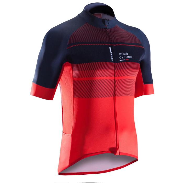 MAILLOT VELO ROUTE MANCHES COURTES HOMME ROADCYCLING 900  XRED NAVY - 1290557