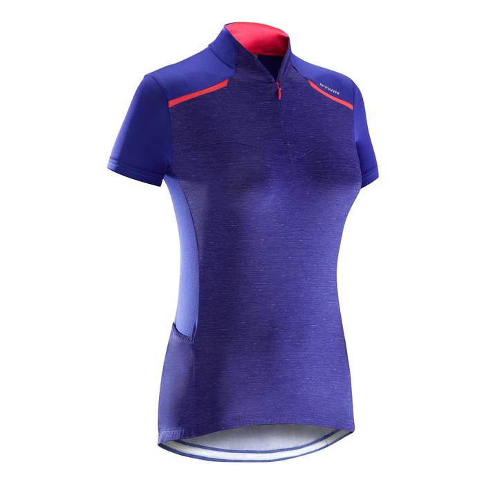 MAILLOT VELO MANCHES COURTE FEMME 500 - 1290563