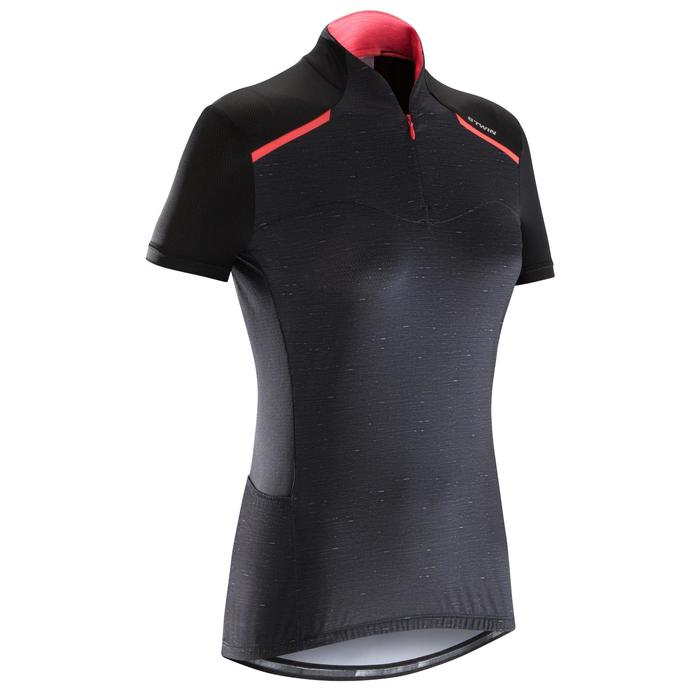 MAILLOT VELO MANCHES COURTE FEMME 500 - 1290570