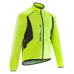 500 Road Cycling Rain Jacket - Neon Yellow