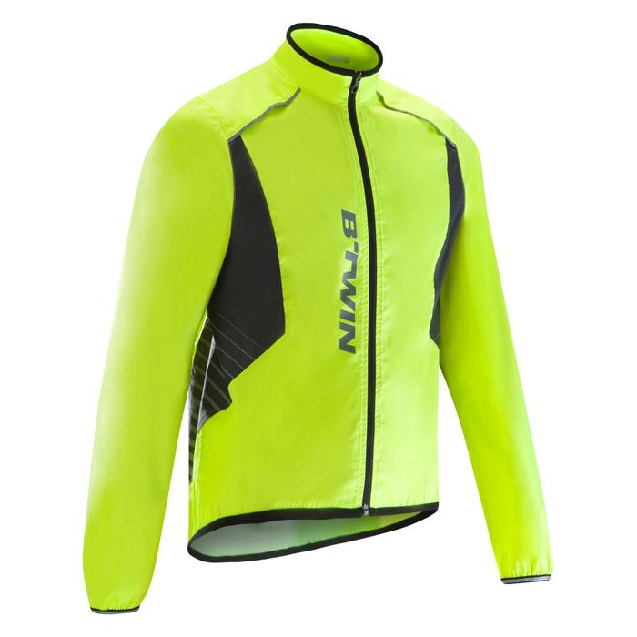 COUPE PLUIE VELO HOMME 500 FLUO SOFTLIME - 1290571