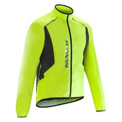 COUPE PLUIE VELO ROUTE HOMME CYCLOTOURISTE 500 FLUO JAUNE