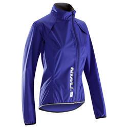 500 Women's Showerproof Cycling Jacket - Blue