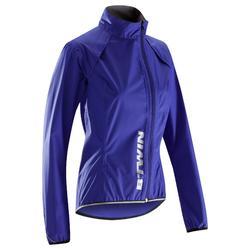 CHUBASQUERO MUJER ciclismo 500 azul