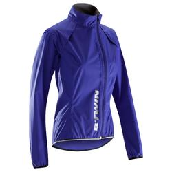 Chaqueta impermeable ciclismo mujer 500 azul