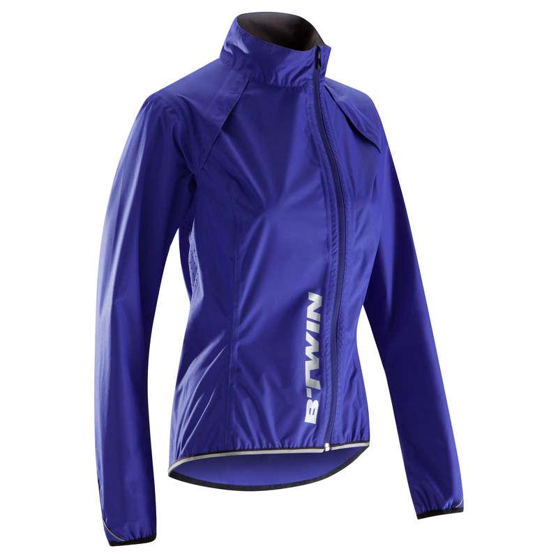 WOMEN WET WEATHER ROAD CYCLING APPAREL Clothing - 500 Women's Showerproof Jacket TRIBAN - By Sport