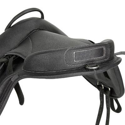אוכף סינתטי לרכיבה על סוס פוני מדגם 100 - שחור