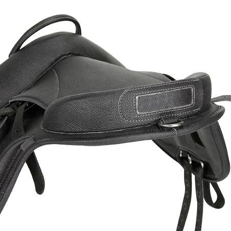 100 Synthetic Horse Riding Pony Saddle - Black