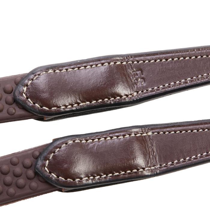 Riendas equitación 580 marrón - talla poni