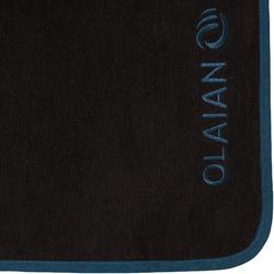 Surfponcho voor volwassenen 500 zwart/blauw
