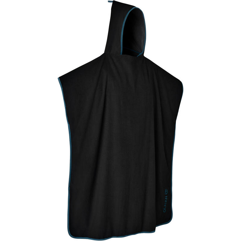 ADULT SURF PONCHO 500 Black Blue