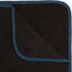 Surf-Poncho 500 Erwachsene schwarz/blau