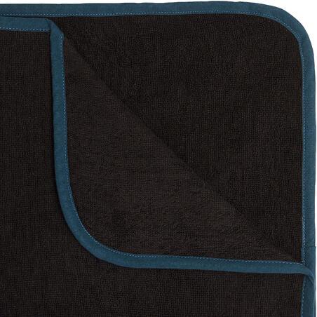 ADULT SURF PONCHO 500 Black Blue