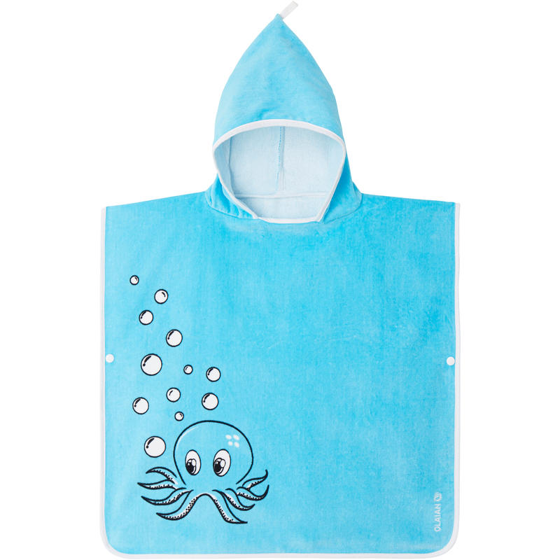 JUNIOR SURF PONCHO 110 to 125 cm Octo Blue
