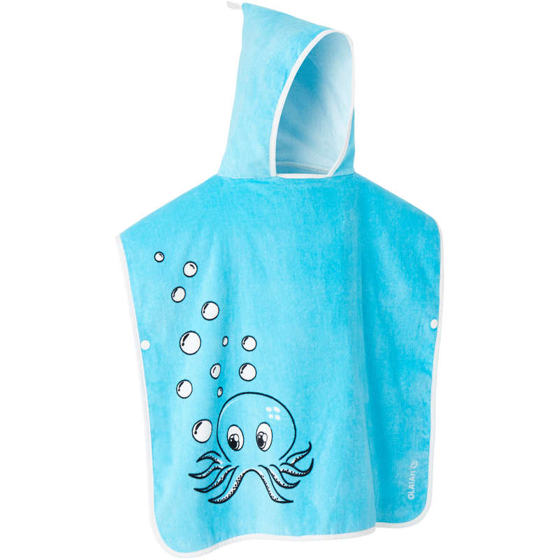 BEACH TOWELS AND PONCHO Surf - Kids Poncho - Octopus Blue OLAIAN - Surf Clothing
