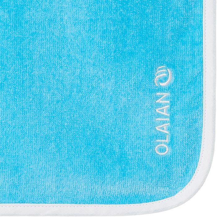 兒童款衝浪斗篷(適合110 到125 cm穿著)-藍色/章魚款