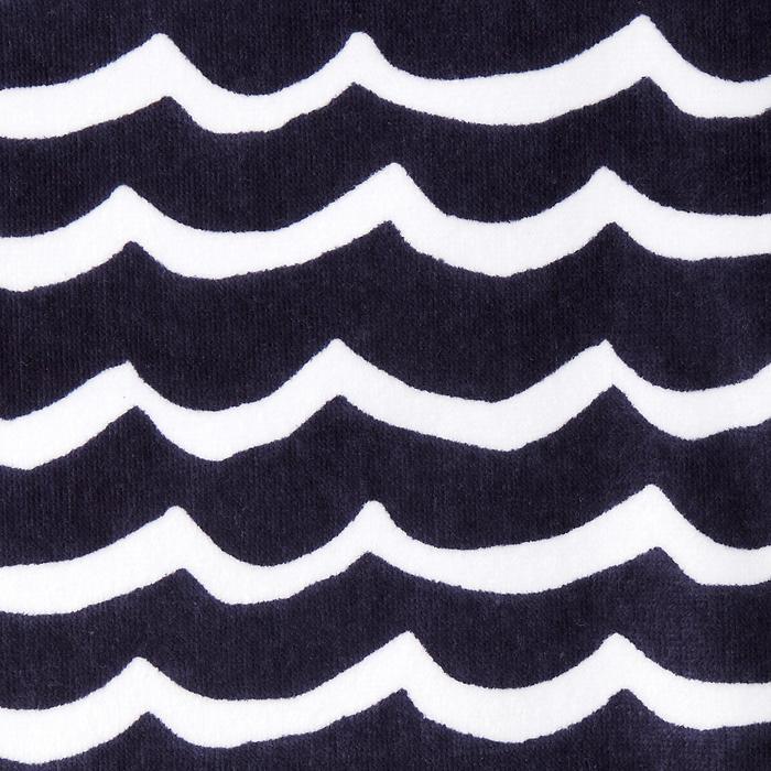 Kinderponcho Pon Petit Wave marineblauw - 1290697