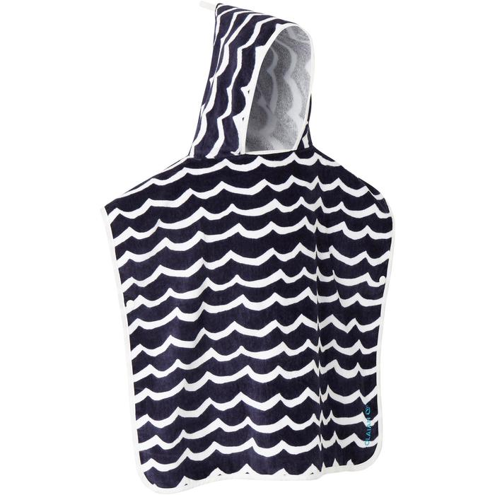 Kinderponcho Pon Petit Wave marineblauw - 1290700