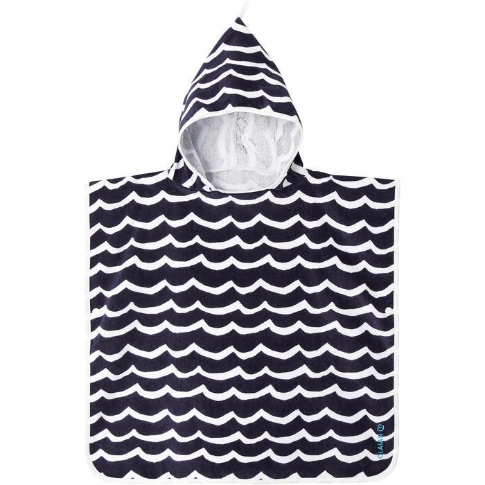 Kinderponcho Pon Petit Wave marineblauw - 1290702