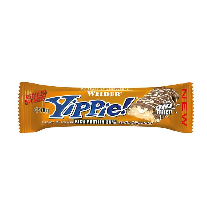 Barrita de proteínas Weider Yippie caramelo 70 g
