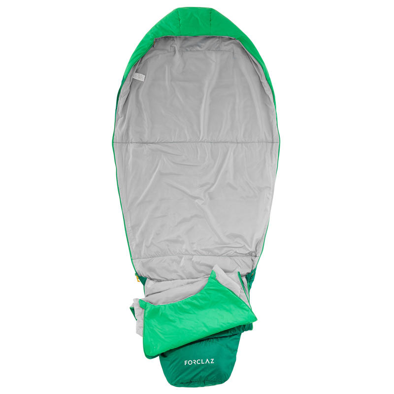 TREK500 15°light trekking sleeping bag - green