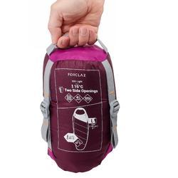 TREK500 15° trekking feather sleeping bag - purple