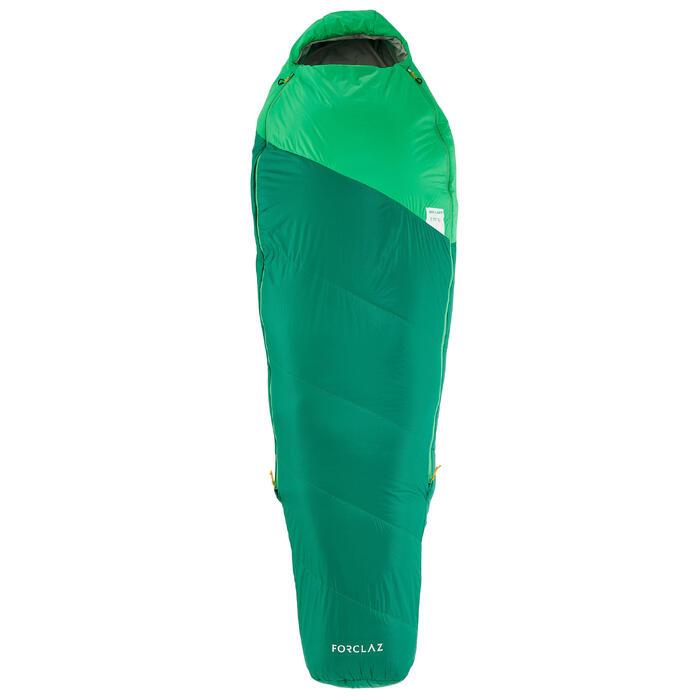 Slaapzak voor trekking Trek 500 15° light groen